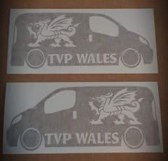 Pair Of TVP WALES with Dragon Van Sticker - Facebook Group